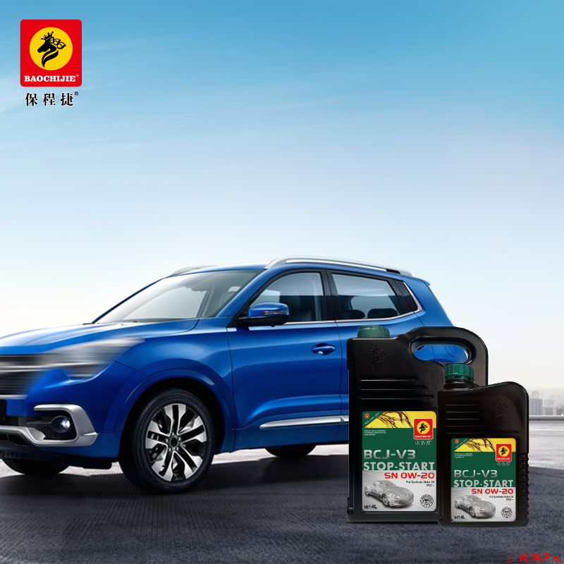 Fully synthetic engine lubricating oil PAO+